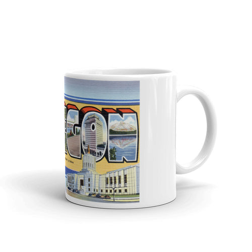 Greetings from Oregon Unique Coffee Mug, Coffee Cup 1