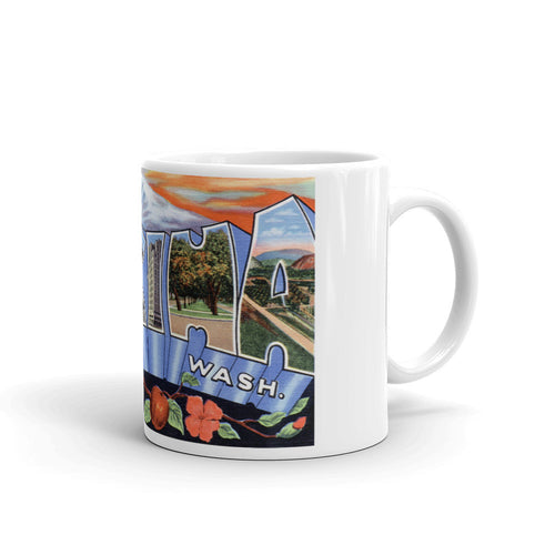 Greetings from Yakima Washington Unique Coffee Mug, Coffee Cup