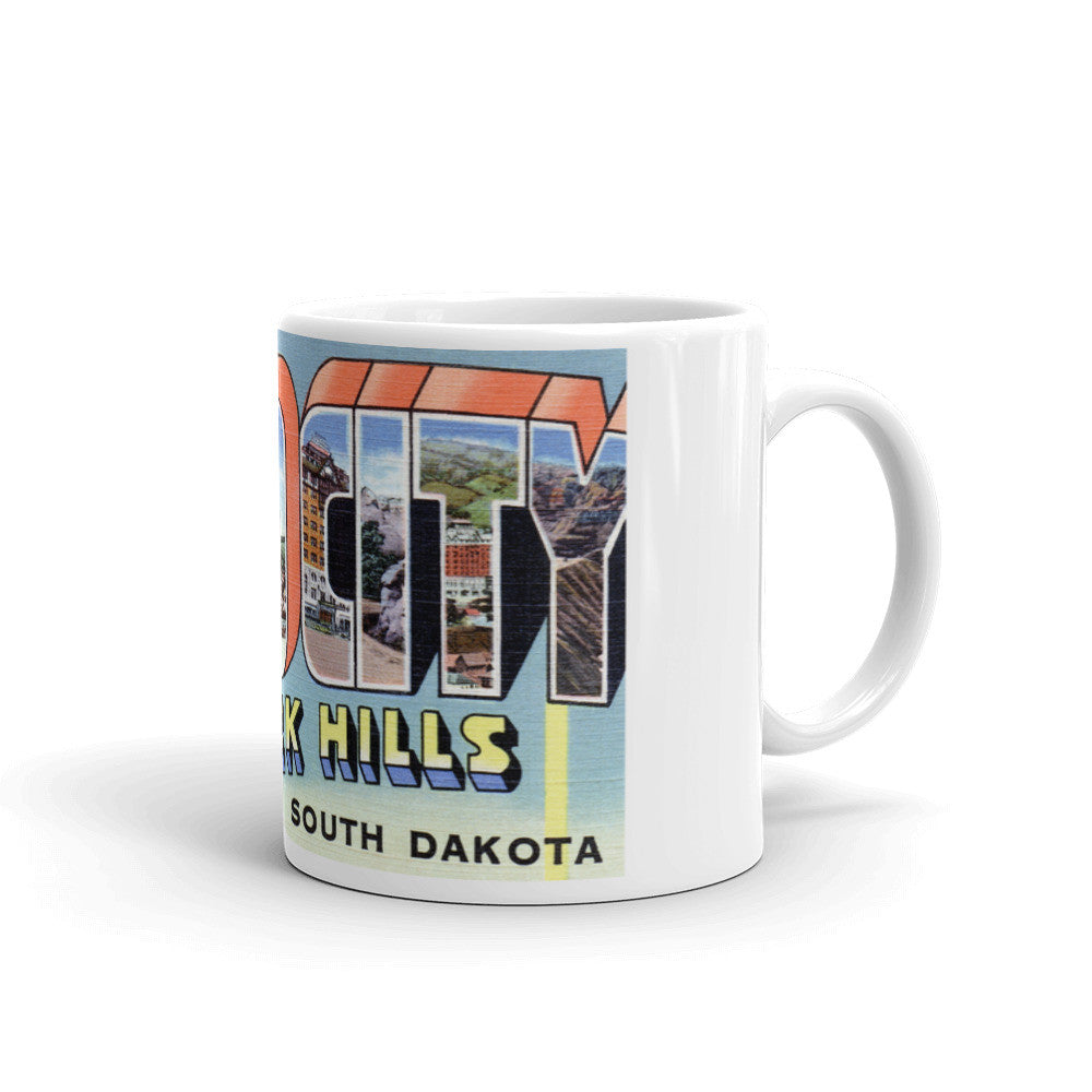 Greetings from Rapid City South Dakota Unique Coffee Mug, Coffee Cup