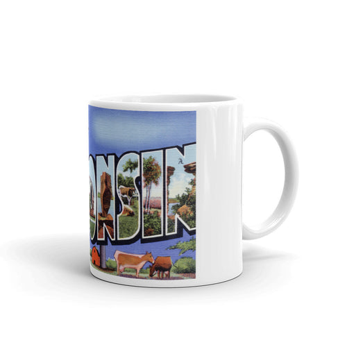 Greetings from Wisconsin Unique Coffee Mug, Coffee Cup 4