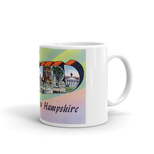 Greetings from Concord New Hampshire Unique Coffee Mug, Coffee Cup