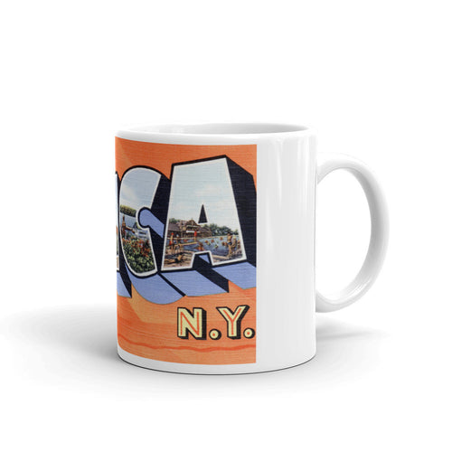 Greetings from Utica New York Unique Coffee Mug, Coffee Cup 1