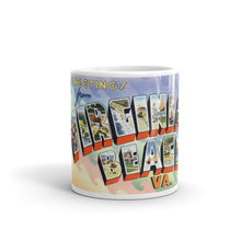 Greetings from Virginia Beach Virginia Unique Coffee Mug, Coffee Cup 1