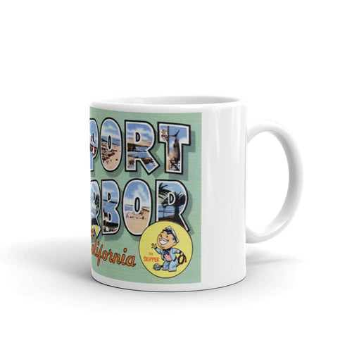 Greetings from Newport Harbor California Unique Coffee Mug, Coffee Cup