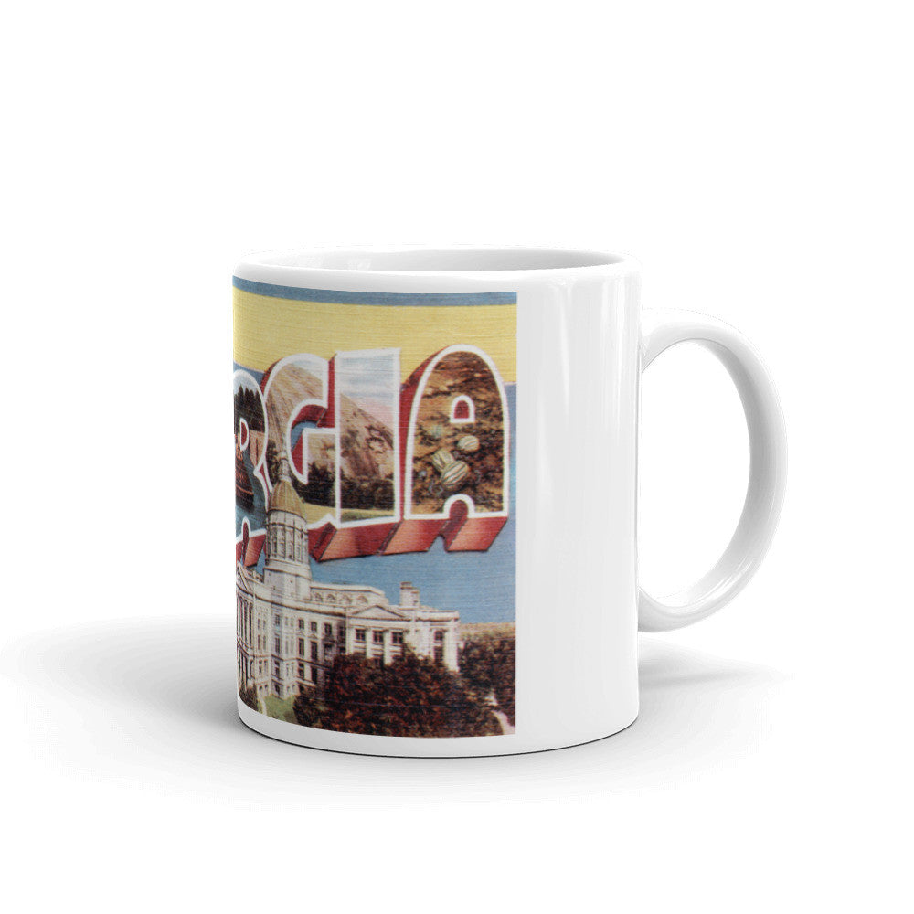 Greetings from Georgia Unique Coffee Mug, Coffee Cup 3