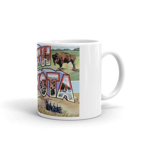Greetings from North Dakota Unique Coffee Mug, Coffee Cup 2