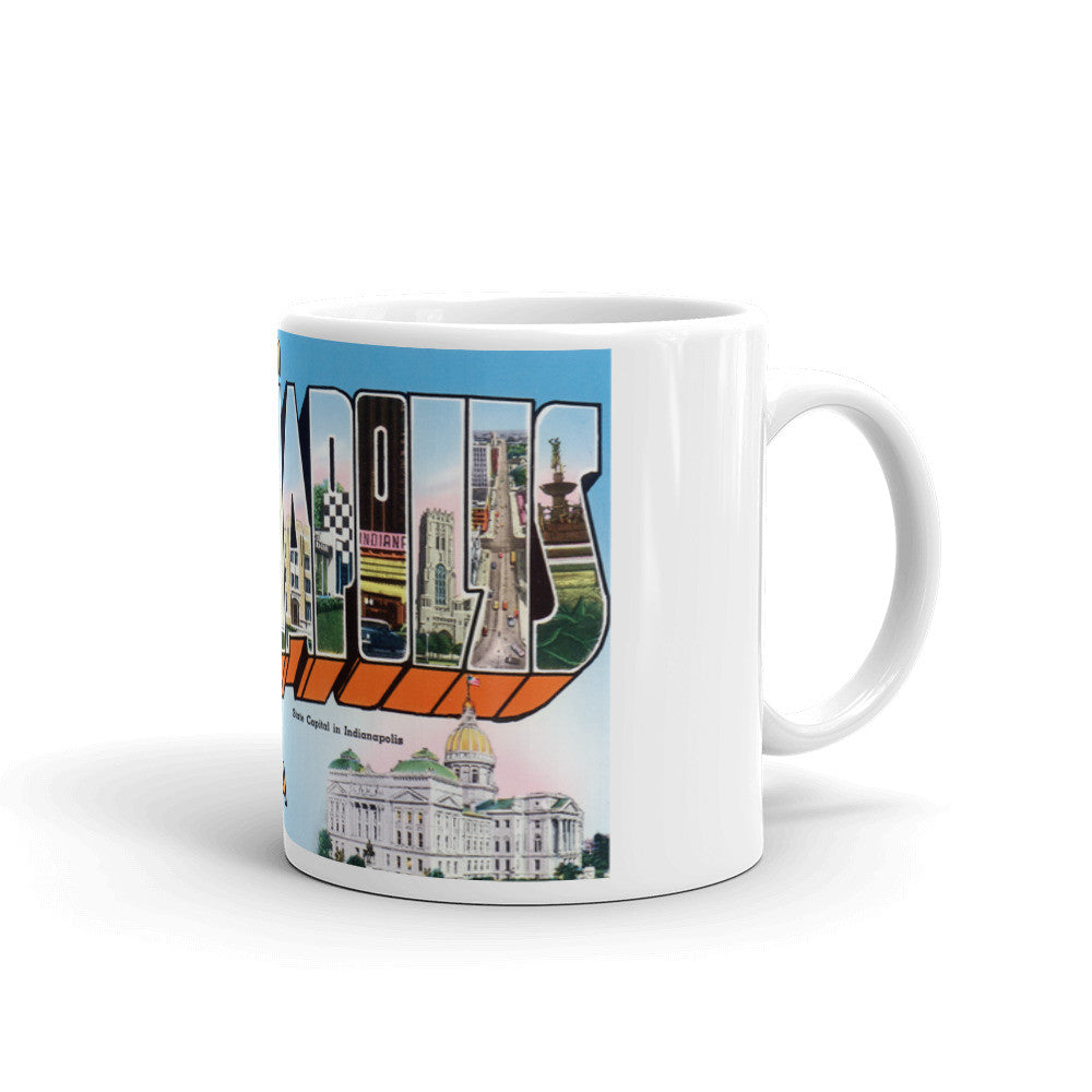 Greetings from Indianapolis Indiana Unique Coffee Mug, Coffee Cup 3