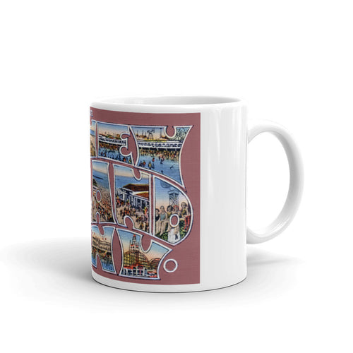 Greetings from Coney Island New York Unique Coffee Mug, Coffee Cup 1
