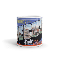 Greetings from Pecos Texas Unique Coffee Mug, Coffee Cup