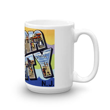 Greetings from Ocean City New Jersey Unique Coffee Mug, Coffee Cup