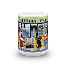 Greetings from Newport News Virginia Unique Coffee Mug, Coffee Cup