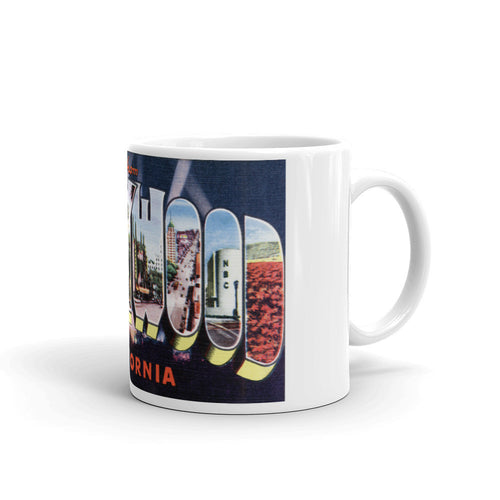 Greetings from Hollywood California Unique Coffee Mug, Coffee Cup 2