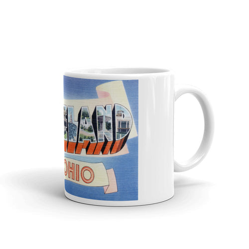 Greetings from Cleveland Ohio Unique Coffee Mug, Coffee Cup 1