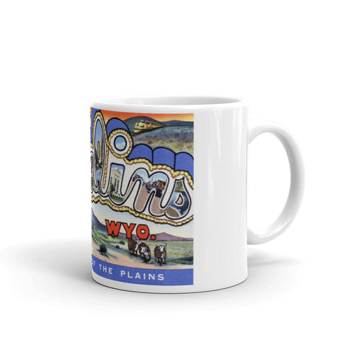 Greetings from Rawlins Wyoming Unique Coffee Mug, Coffee Cup