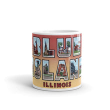Greetings from Blue Island Illinois Unique Coffee Mug, Coffee Cup