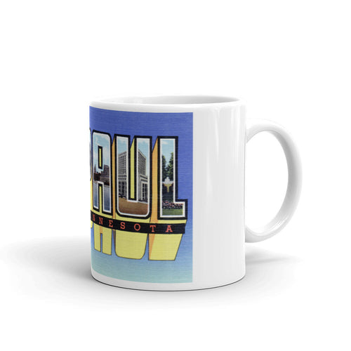 Greetings from St Paul Minnesota Unique Coffee Mug, Coffee Cup 2