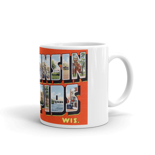 Greetings from Wisconsin Rapids Wisconsin Unique Coffee Mug, Coffee Cup