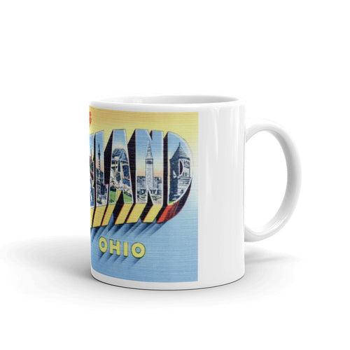 Greetings from Cleveland Ohio Unique Coffee Mug, Coffee Cup 3
