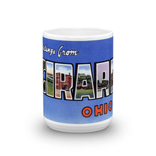 Greetings from Girard Ohio Unique Coffee Mug, Coffee Cup