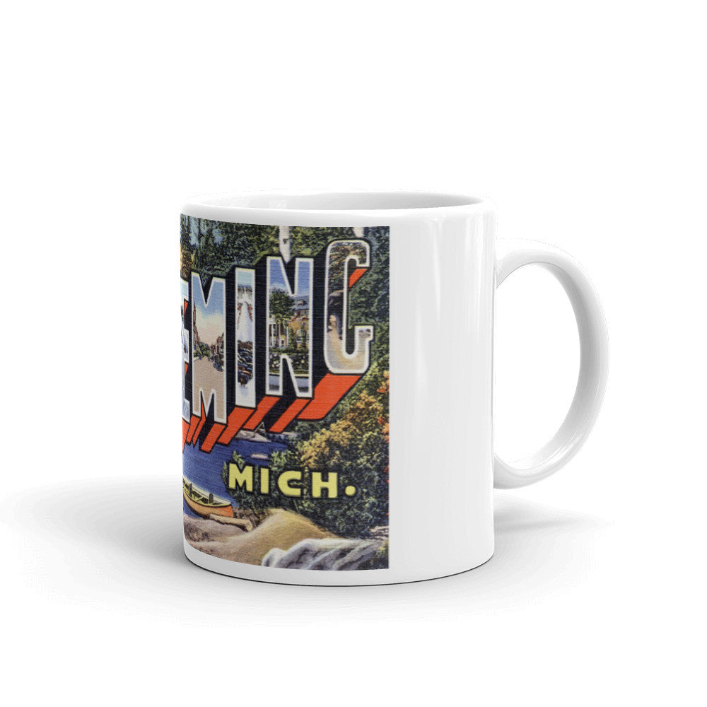 Greetings from Ishpeming Michigan Unique Coffee Mug, Coffee Cup