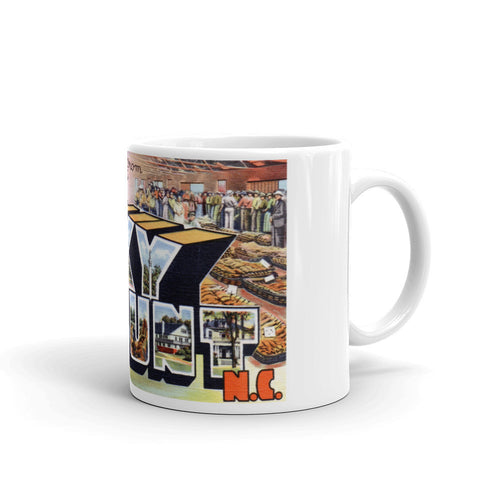 Greetings from Rocky Mount North Carolina Unique Coffee Mug, Coffee Cup