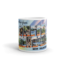 Greetings from White Mountains New Hampshire Unique Coffee Mug, Coffee Cup