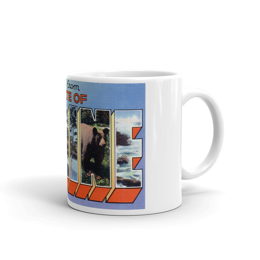 Greetings from Maine Unique Coffee Mug, Coffee Cup 4
