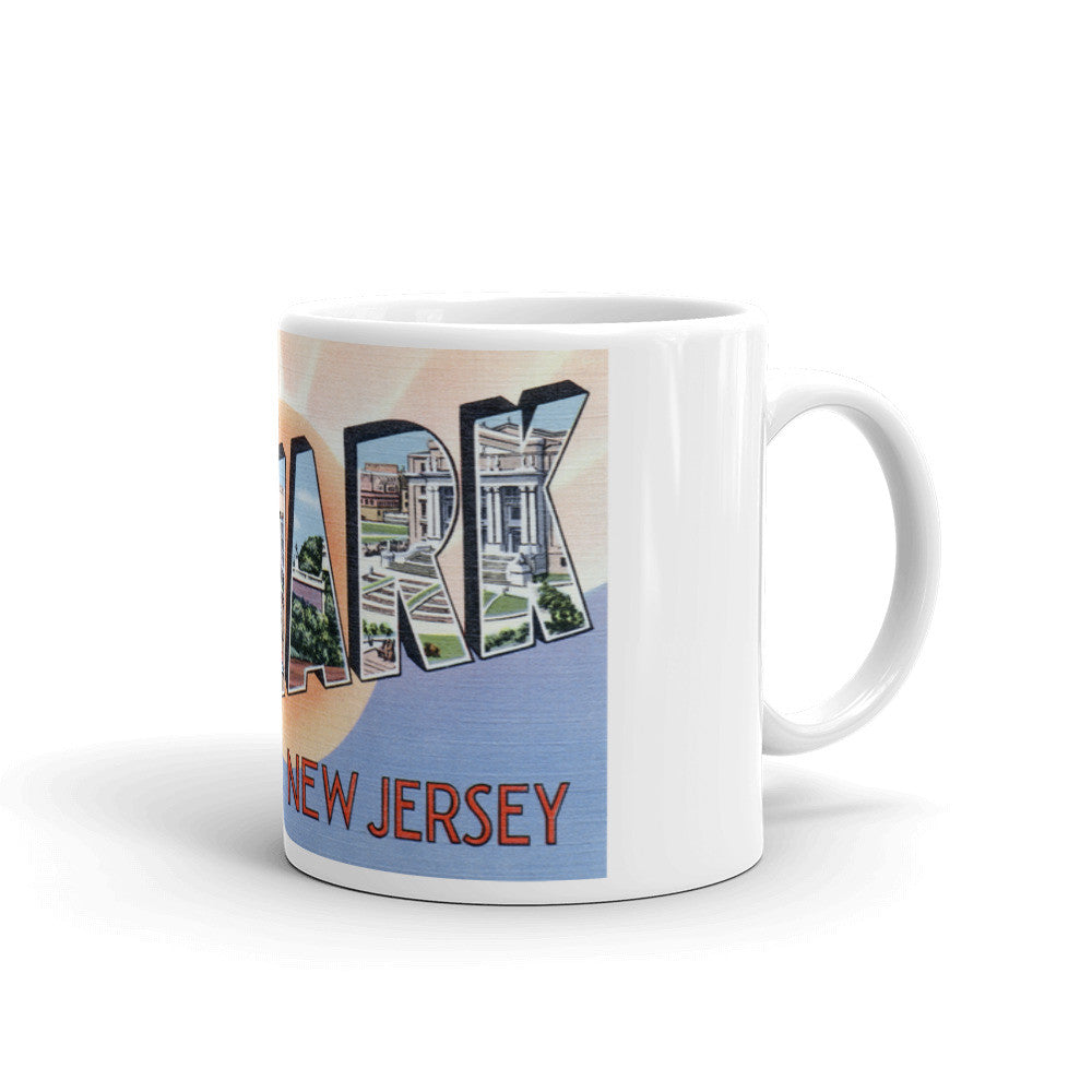 Greetings from Newark New Jersey Unique Coffee Mug, Coffee Cup 3