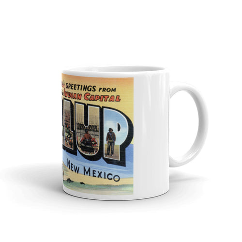 Greetings from Gallup New Mexico Unique Coffee Mug, Coffee Cup