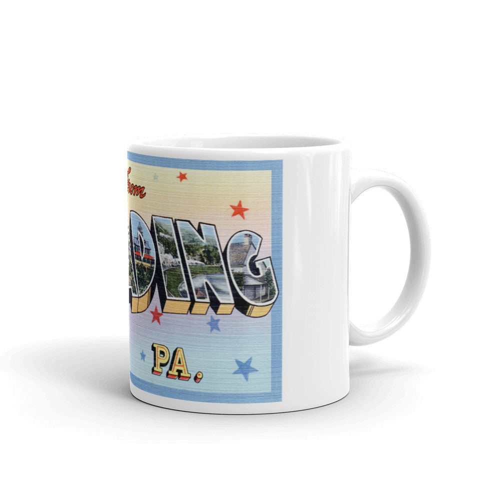 Greetings from Reading Pennsylvania Unique Coffee Mug, Coffee Cup 2