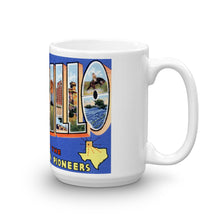 Greetings from Amarillo Texas Unique Coffee Mug, Coffee Cup