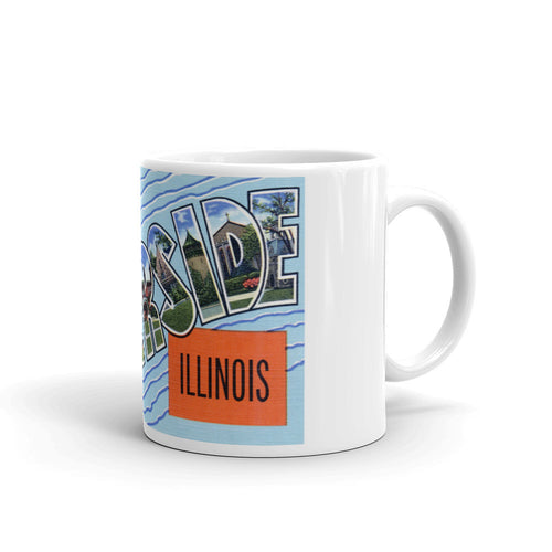 Greetings from Riverside Illinois Unique Coffee Mug, Coffee Cup