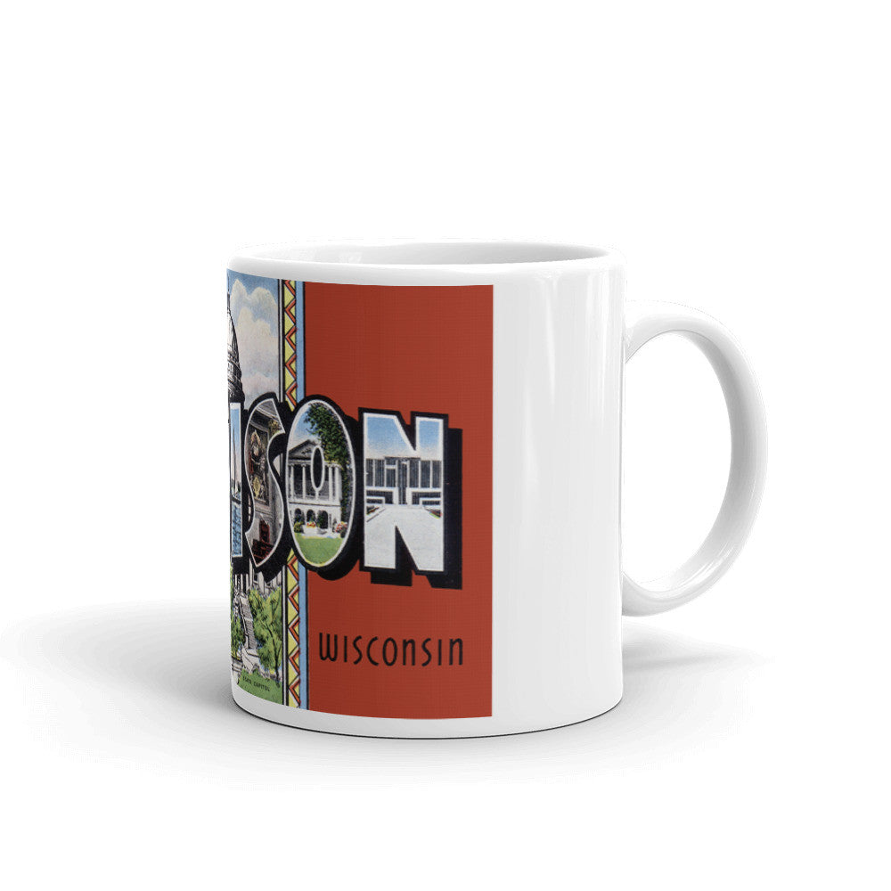 Greetings from Madison Wisconsin Unique Coffee Mug, Coffee Cup 2