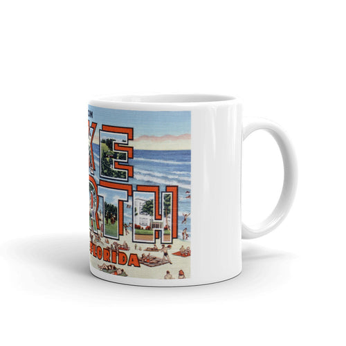Greetings from Lake Worth Florida Unique Coffee Mug, Coffee Cup