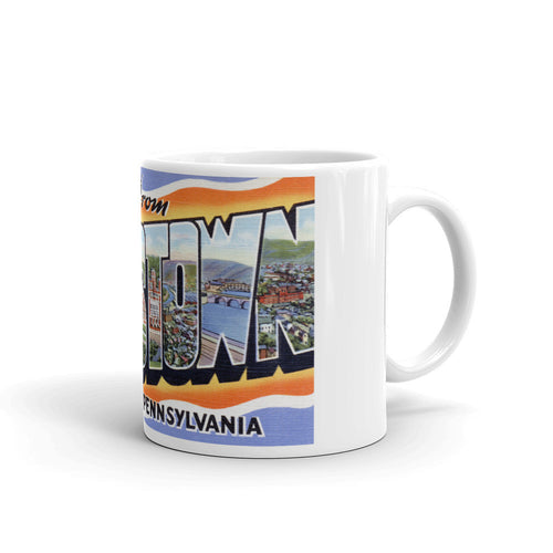 Greetings from Johnstown Pennsylvania Unique Coffee Mug, Coffee Cup