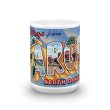 Greetings from Fargo North Dakota Unique Coffee Mug, Coffee Cup 1