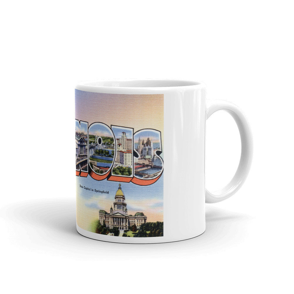 Greetings from Illinois Unique Coffee Mug, Coffee Cup 1