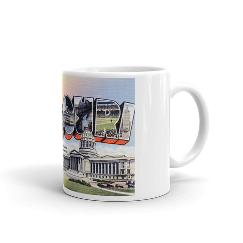 Greetings from Missouri Unique Coffee Mug, Coffee Cup 1