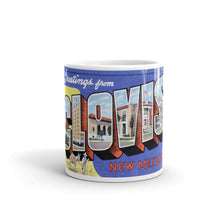 Greetings from Clovis New Mexico Unique Coffee Mug, Coffee Cup