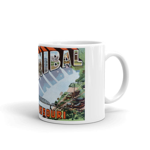 Greetings from Hannibal Missouri Unique Coffee Mug, Coffee Cup