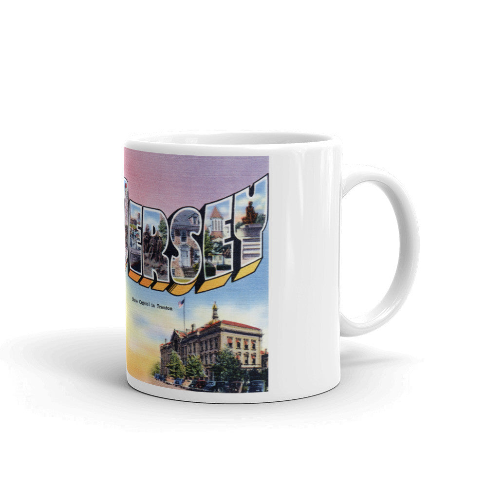 Greetings from New Jersey Unique Coffee Mug, Coffee Cup 1