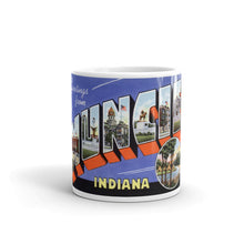 Greetings from Muncie Indiana Unique Coffee Mug, Coffee Cup