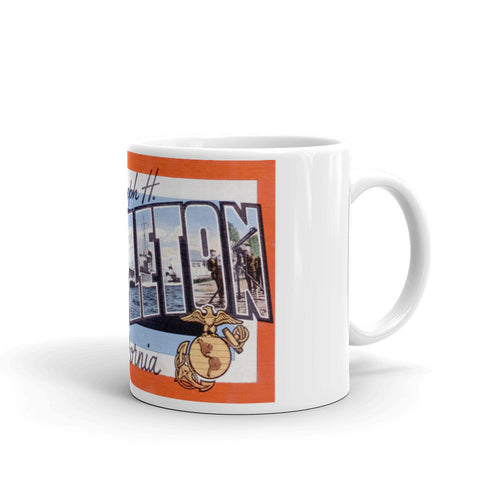 Greetings from Camp Pendleton California Unique Coffee Mug, Coffee Cup