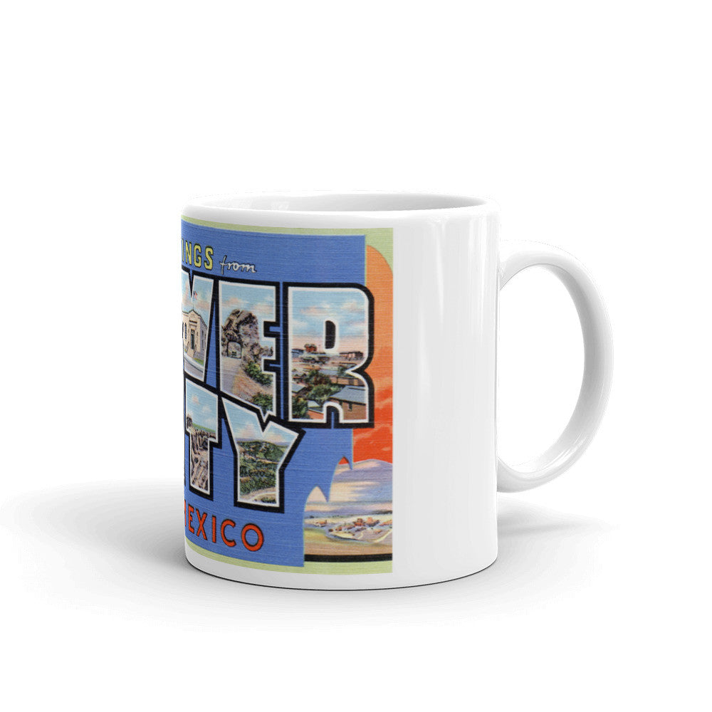 Greetings from Silver City New Mexico Unique Coffee Mug, Coffee Cup