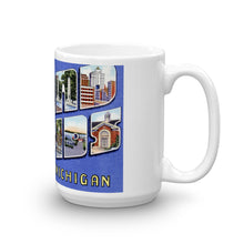 Greetings from Grand Rapids Michigan Unique Coffee Mug, Coffee Cup