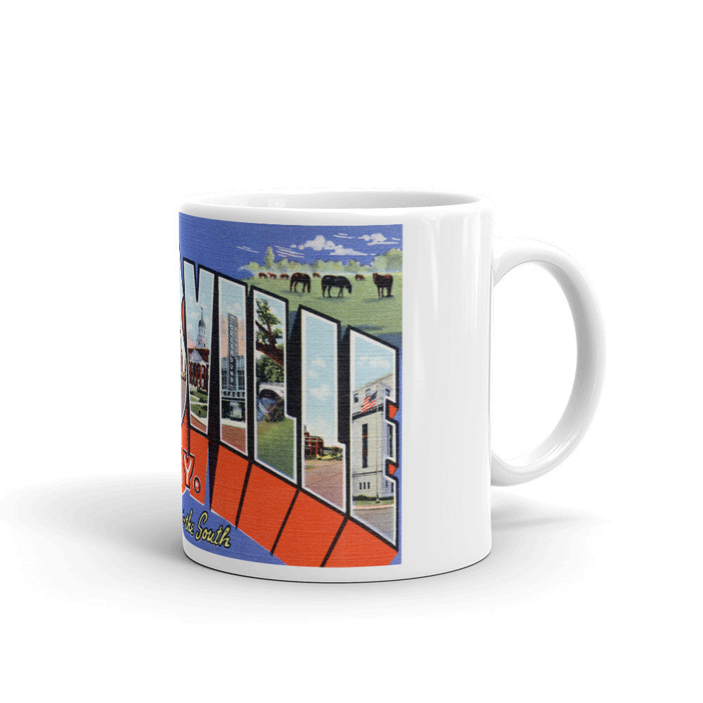 Greetings from Louisville Kentucky Unique Coffee Mug, Coffee Cup