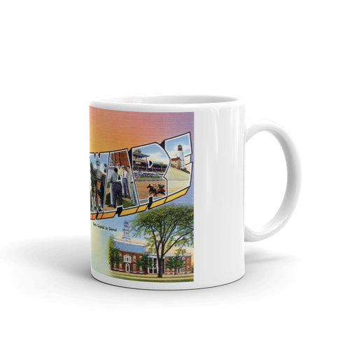 Greetings from Delaware Unique Coffee Mug, Coffee Cup 1