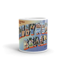 Greetings from Hollywood Beach Florida Unique Coffee Mug, Coffee Cup