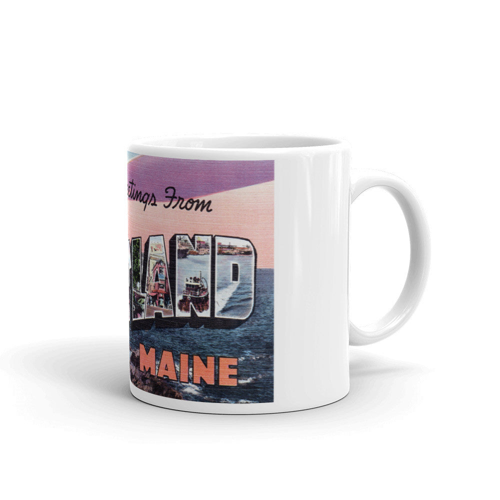 Greetings from Portland Maine Unique Coffee Mug, Coffee Cup 2