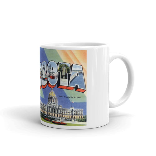 Greetings from Minnesota Unique Coffee Mug, Coffee Cup 1
